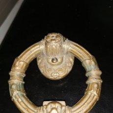 Antigüedades: LLAMADOR DE BRONCE ANTIGUO. FIGURA DE PERRO. Lote 183325405