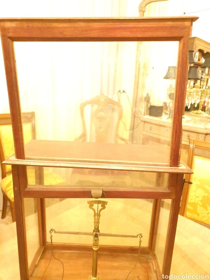 Antigüedades: bascula balanza precisión menaya. farmacia. pesas caja guillotina caoba - Foto 9 - 183405128