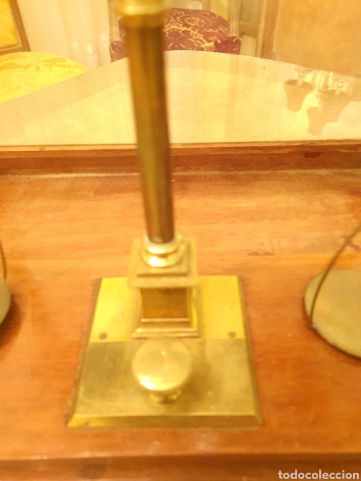 Antigüedades: bascula balanza precisión menaya. farmacia. pesas caja guillotina caoba - Foto 10 - 183405128