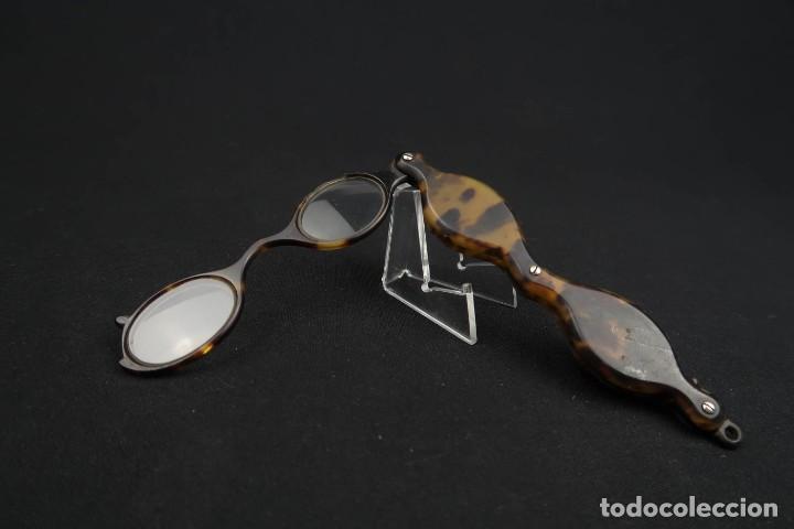 Antigüedades: Antiguas Gafas Impertinentes simil Carey - Foto 6 - 183406172