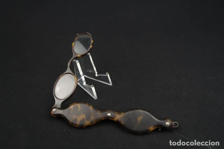 Antigüedades: Antiguas Gafas Impertinentes simil Carey - Foto 8 - 183406172