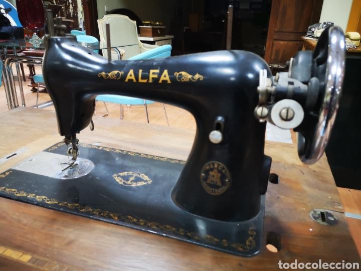 MAQUINA COSER ALFA (Antigüedades - Técnicas - Máquinas de Coser Antiguas - Alfa)