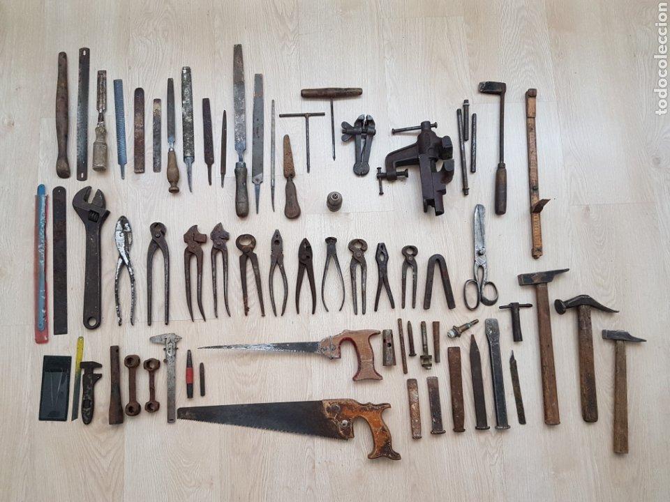 LOTE HERRAMIENTAS ANTIGUAS (Antigüedades - Técnicas - Herramientas Antiguas - Otras profesiones)