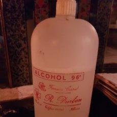 Antigüedades: ALCOHOL DE 96° R. DURBAN FARMACIA CENTRAL ALMERÍA. Lote 183473681