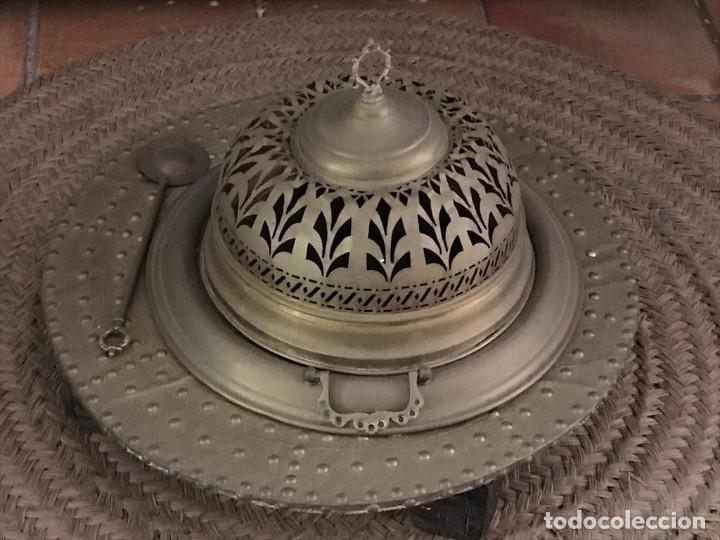 BRASERO (Antigüedades - Técnicas - Planchas Antiguas - Carbón)