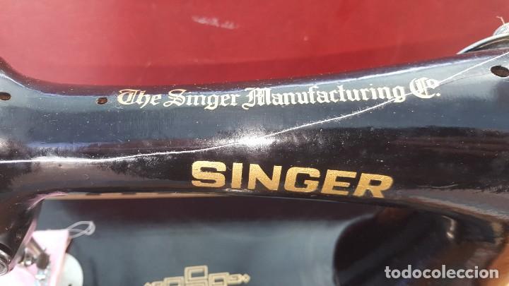 Antigüedades: Máquina de coser Singer antigua año 1920, cose bien - Foto 3 - 183480673