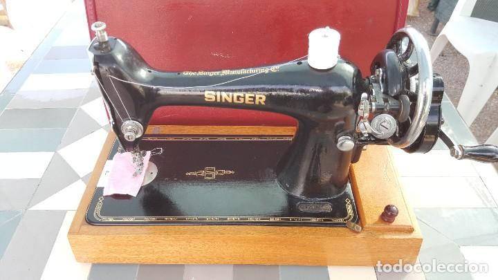 Antigüedades: Máquina de coser Singer antigua año 1920, cose bien - Foto 5 - 183480673
