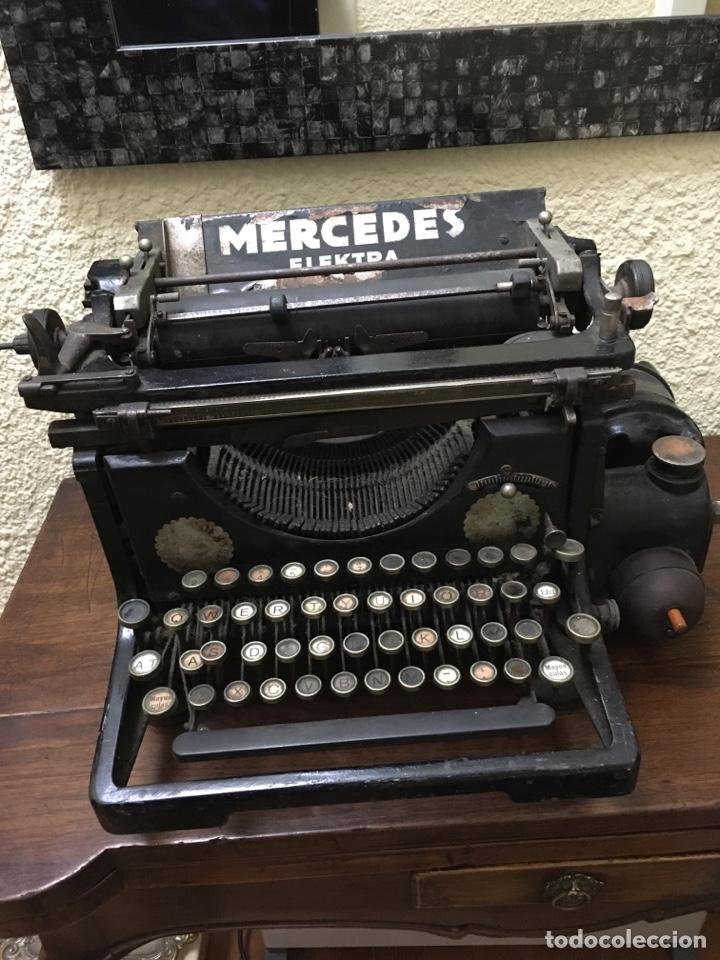 MÁQUINA DE ESCRIBIR MARCA MERCEDES ELEKTRA AÑOS 1920 (Antigüedades - Técnicas - Máquinas de Escribir Antiguas - Mercedes)