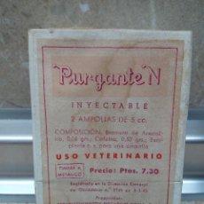Antigüedades: CAJA DE FARMACIA PURGANTE-N ESTABLECIMIENTOS ROCAFORT DORIA PRODUCTOS NEOSAN ( BARCELONA ) LLENA.. Lote 183577566