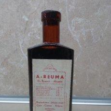 Antigüedades: FRASCO DE MEDICINA A- REUMA DEL DR. ROMERO ( ALICANTE ( LLENA ) AÑOS 40.. Lote 183579882