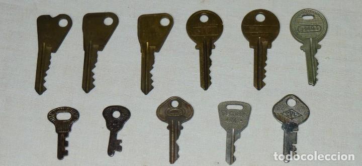 Antigüedades: Lote de 17 llaves hierro y bronce. - Foto 2 - 183609567