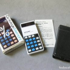 Antigüedades: CALCULADORA SINCLAIR CAMBRIDGE MEMORY 0/0 CON CAJA E INSTRUCCIONES - ELECTRONIC CALCULATOR. Lote 183649087