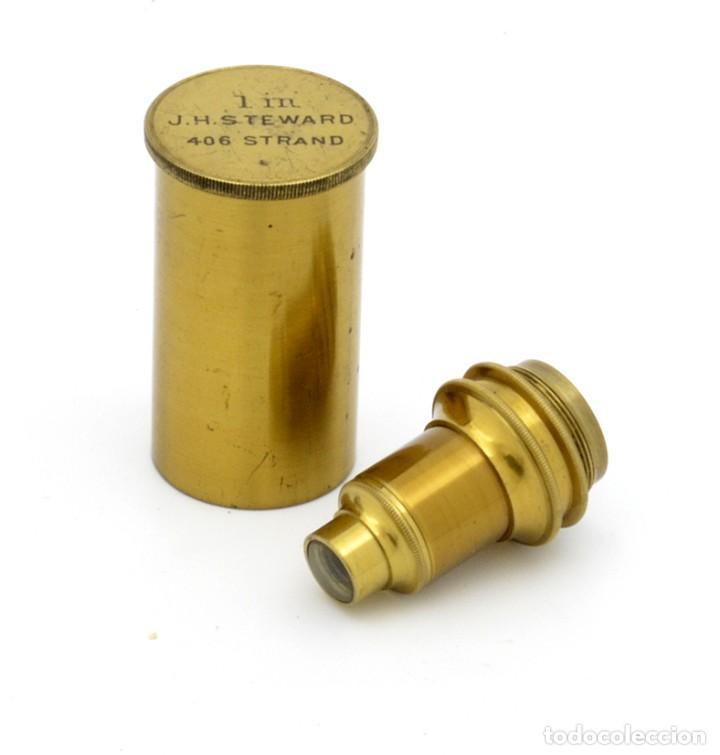 Antigüedades: Objetivo microscopio antiguo J. H. Steward (c.1870) - Foto 3 - 183654822