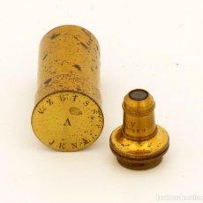Antigüedades: OBJETIVO MICROSCOPIO ANTIGUO C. ZEISS (C1890). Lote 183655848