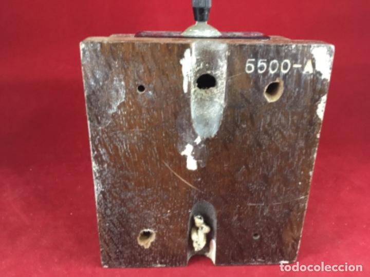 Teléfonos: Antigua llave conmutadora, de madera, para uso telefónico, de Standard Eléctrica, para la CTNE - Foto 4 - 183662572