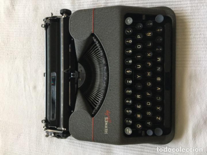 Antigüedades: Máquina de escribir Hermes Baby - Foto 2 - 183666618