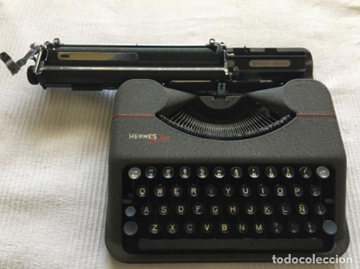 Antigüedades: Máquina de escribir Hermes Baby - Foto 4 - 183666618