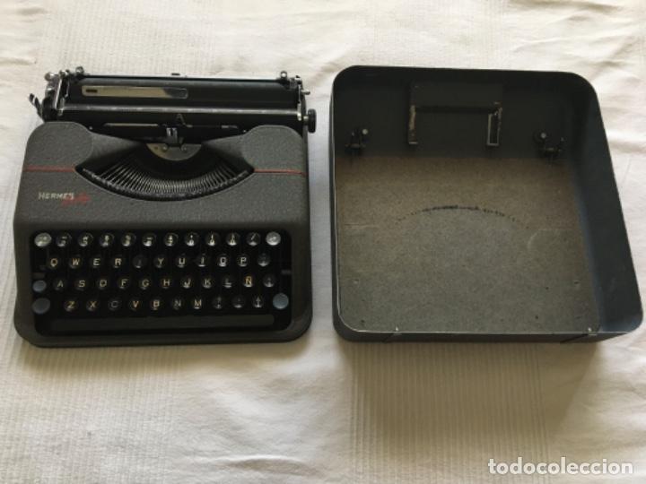 Antigüedades: Máquina de escribir Hermes Baby - Foto 7 - 183666618