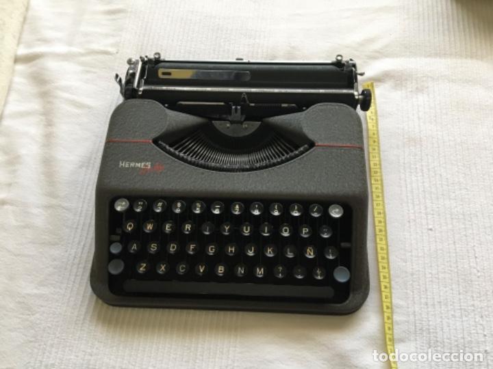 Antigüedades: Máquina de escribir Hermes Baby - Foto 8 - 183666618