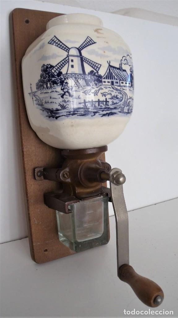 Antigüedades: MOLINILLO DE CAFÉ MURAL MARCA TRÖSSER. MODELO 1005. ALEMANIA. CA. 1955/1965 - Foto 4 - 183681216