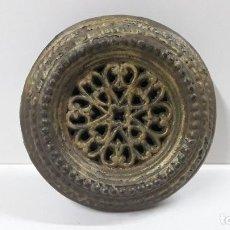 Antigüedades: ANTIGUA MIRILLA DE PUERTA CON VISOR INTERIOR A MUELLE . POSIBLEMENTE HIERRO FUNDIDO . DIAMETRO 16 CM. Lote 183692781