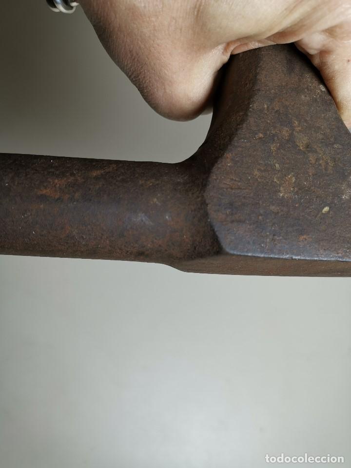 Antigüedades: ESPLENDIDO YUNQUE DE CUERNOS BIGORNIA HOJALATERO CHAPISTA..luckhaus & Gunther ALEMANIA SIGLO - Foto 10 - 183701302