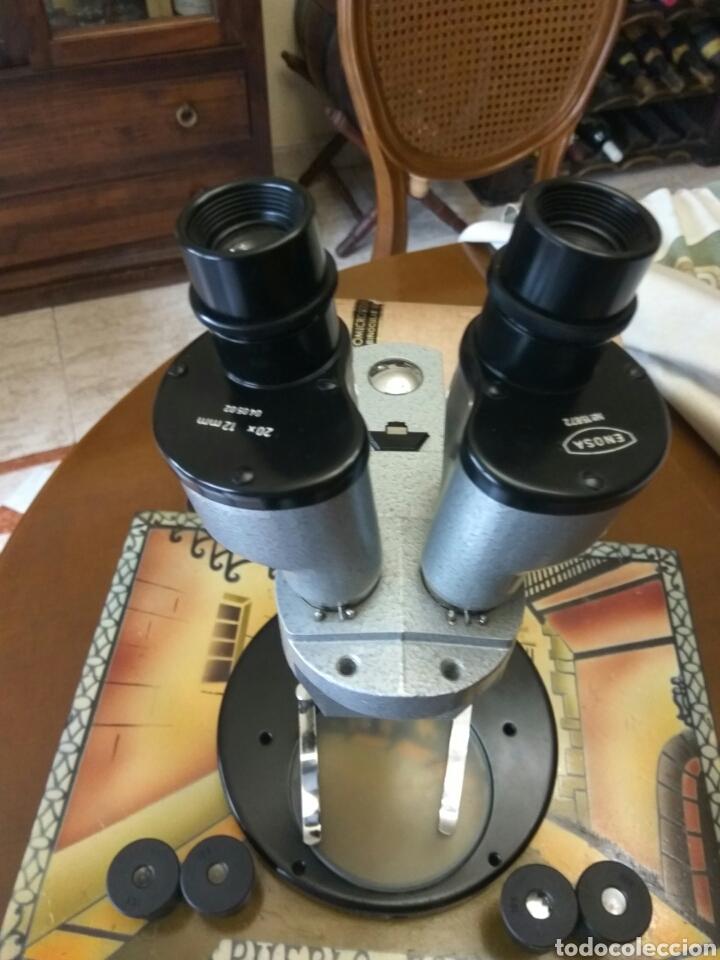 ESTÉREO MICROSCOPIO -LUPA BINOCULAR MARCA ENOSA (Antigüedades - Técnicas - Instrumentos Ópticos - Microscopios Antiguos)