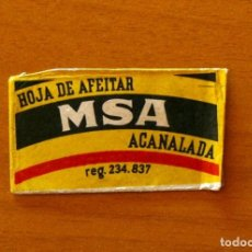 Antigüedades: FUNDA-SOBRE DE HOJA DE AFEITAR - MSA ACANALADA - SIN CUCHILLA - AÑO 1944. Lote 183825363