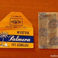 Antigüedades: FUNDA-SOBRE DE HOJA DE AFEITAR - NUEVA PALMERA ORO ACANALADA - CON CUCHILLA - AÑO 1944. Lote 183826735