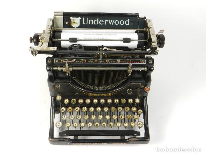 Antigüedades: MAQUINA DE ESCRIBIR UNDERWOOD Nº5 AÑO 1916 TYPEWRITER SCRHEIBMASCHINE - Foto 2 - 183834658