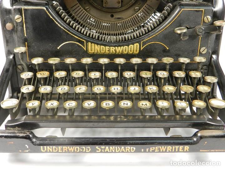 Antigüedades: MAQUINA DE ESCRIBIR UNDERWOOD Nº5 AÑO 1916 TYPEWRITER SCRHEIBMASCHINE - Foto 3 - 183834658