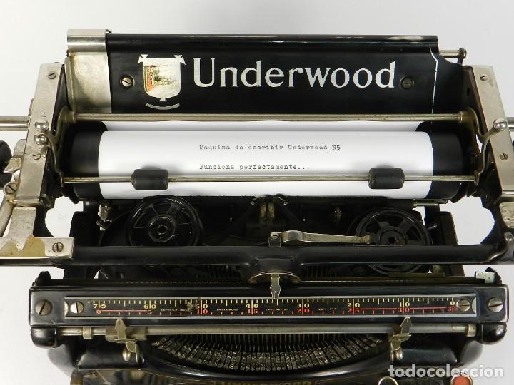Antigüedades: MAQUINA DE ESCRIBIR UNDERWOOD Nº5 AÑO 1916 TYPEWRITER SCRHEIBMASCHINE - Foto 6 - 183834658