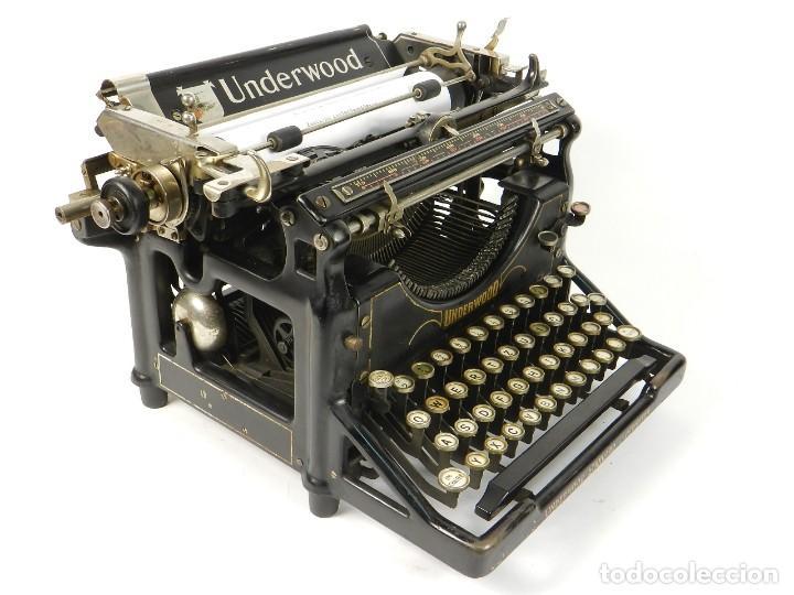 Antigüedades: MAQUINA DE ESCRIBIR UNDERWOOD Nº5 AÑO 1916 TYPEWRITER SCRHEIBMASCHINE - Foto 7 - 183834658