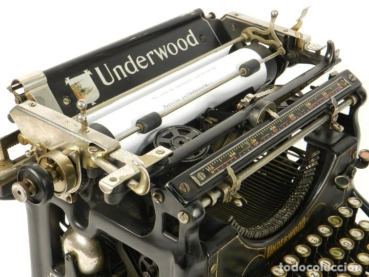 Antigüedades: MAQUINA DE ESCRIBIR UNDERWOOD Nº5 AÑO 1916 TYPEWRITER SCRHEIBMASCHINE - Foto 8 - 183834658