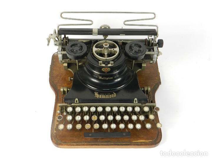 Antigüedades: MAQUINA DE ESCRIBIR HAMMOND MULTIPLEX AÑO 1913 TYPEWRITER SCRHEIBMASCHINE - Foto 2 - 183835897