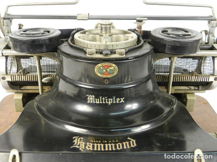 Antigüedades: MAQUINA DE ESCRIBIR HAMMOND MULTIPLEX AÑO 1913 TYPEWRITER SCRHEIBMASCHINE - Foto 4 - 183835897