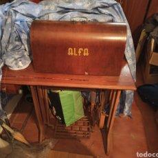 Antigüedades: MAQUINA DE COSER ALFA. Lote 183894348