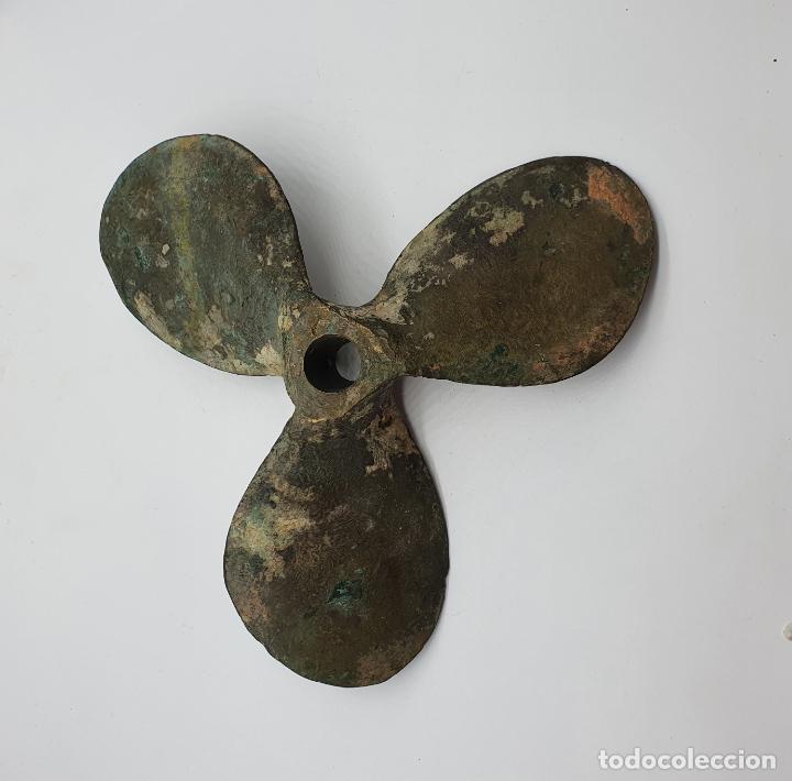 Antigüedades: Hélice antigua de barco en bronce macizo . - Foto 6 - 183987407