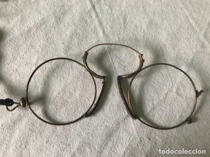 GAFAS, QUEVEDOS DEL S.XIX DE ORO 9K (Antigüedades - Técnicas - Instrumentos Ópticos - Gafas Antiguas)