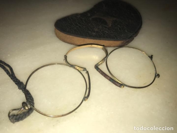 Antigüedades: Gafas, Quevedos del s.XIX de oro 9K - Foto 6 - 184028776