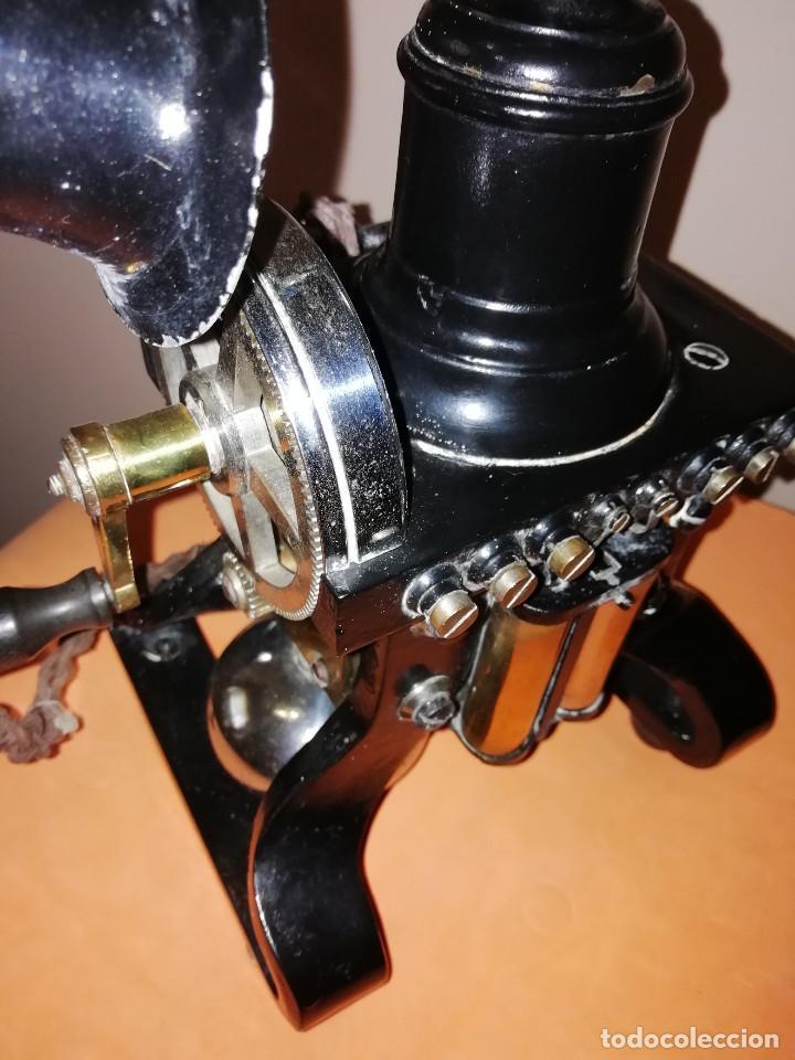 Teléfonos: TELEFONO ARAÑA. AÑO 1895. CARLSON ELECTRIC. MUY BUEN ESTADO. SE ADMITEN OFERTAS. - Foto 6 - 184084535