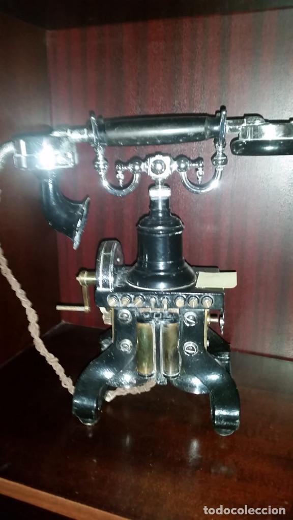 Teléfonos: TELEFONO ARAÑA. AÑO 1895. CARLSON ELECTRIC. MUY BUEN ESTADO. SE ADMITEN OFERTAS. - Foto 10 - 184084535