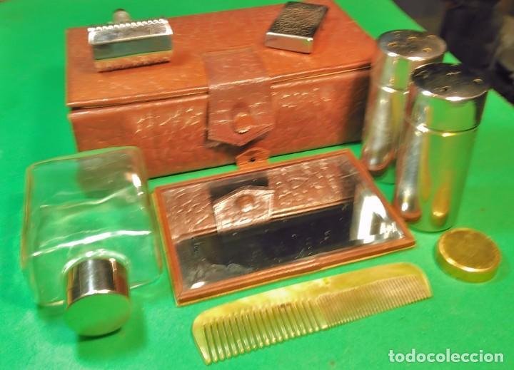 Antigüedades: Estuche cuero afeitar WAGENSBERG marca Española, maquinilla Excelente. safety razor - Foto 3 - 184136343