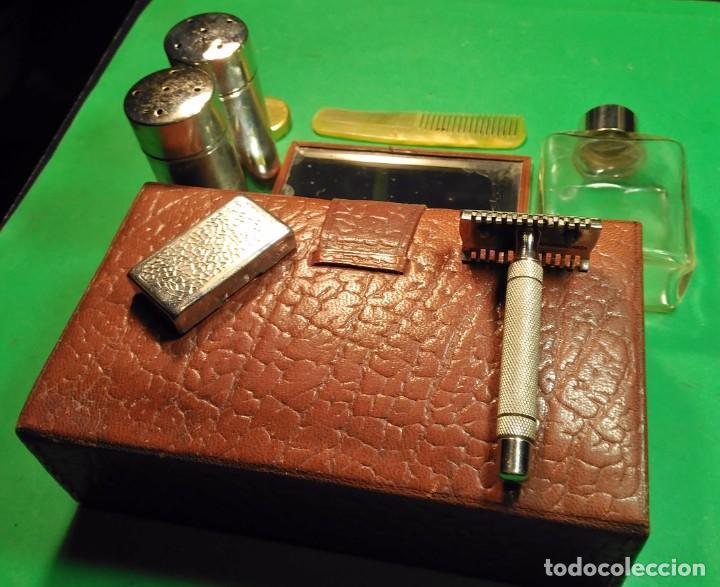 Antigüedades: Estuche cuero afeitar WAGENSBERG marca Española, maquinilla Excelente. safety razor - Foto 9 - 184136343