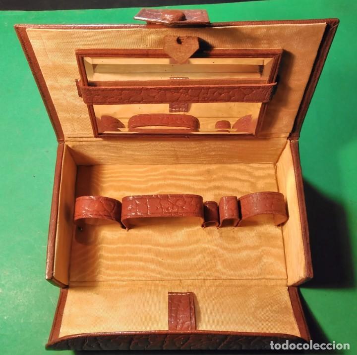 Antigüedades: Estuche cuero afeitar WAGENSBERG marca Española, maquinilla Excelente. safety razor - Foto 5 - 184136343