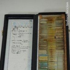 Antigüedades: MICROSCOPIO. COLECCIÓN DE 50 PREPARACIONES MICROSCÓPICAS C.1950. Lote 184140561