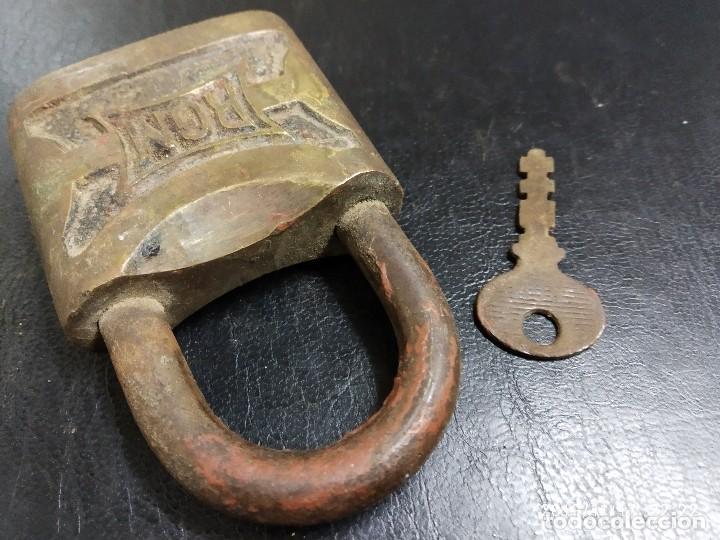 Antigüedades: CANDADO RGM CON LLAVE. - Foto 4 - 184214260