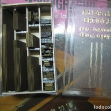 Antiquités: IMPRENTA ENCUADERNACION, RAYAS BRONCE PARA ESTAMPAR E IMPRIMIR, MOD. DESCANTERADA 2 PUNTO - LOTE4-8. Lote 184281726