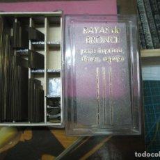 Antigüedades: IMPRENTA ENCUADERNACIÓN, RAYAS BRONCE PARA ESTAMPAR E IMPRIMIR, MOD. FINA 2 PUNTO - LOTE 4-8. Lote 184282327