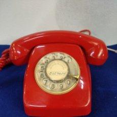 Teléfonos: TELÉFONO ROJO VINTAGE, HERALDO. FUNCIONA. Lote 184342453
